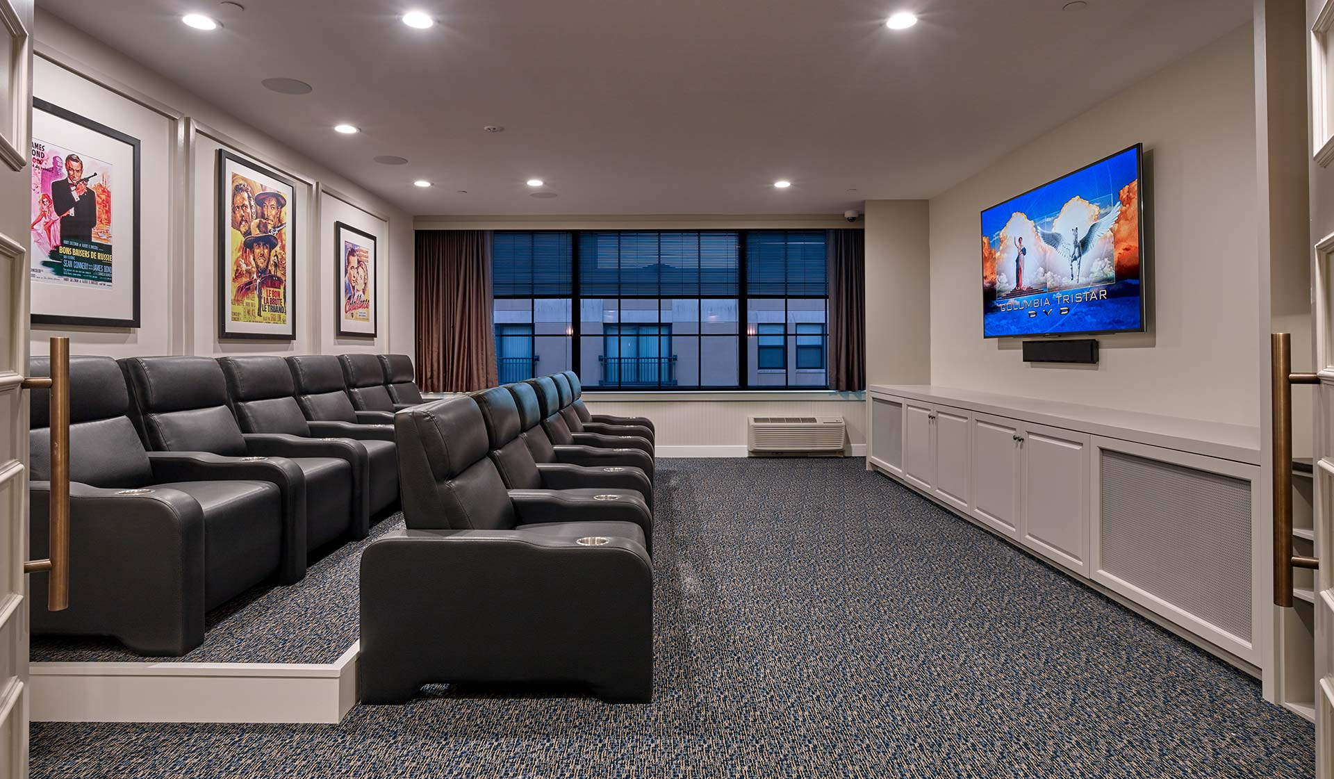 The Left Bank  apartments in Philadelphia -Theater room