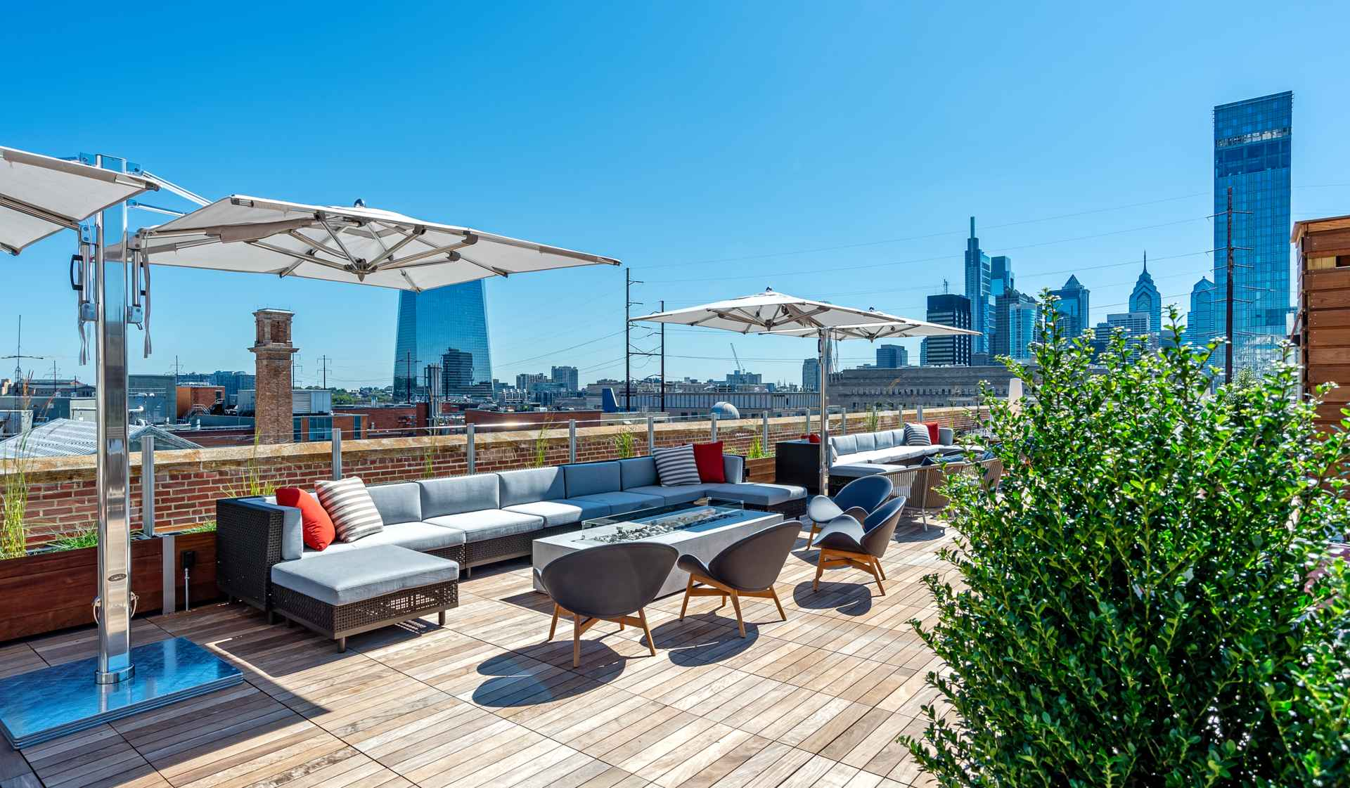 The Left Bank Apts - Philly PA - rooftop